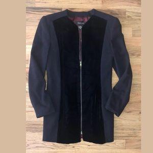 Ellen Tracy Jackets & Coats - navy blue ELLEN TRACY velvet blazer long work 2